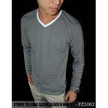 Striped Long Sleeve Black n White