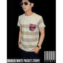 Broken White Pocket Stripe