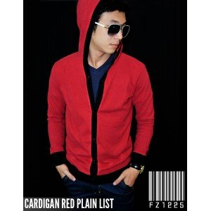 Cardigan Red Plain List