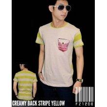 Creamy Back Stripe Yellow