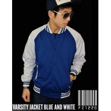 Jacket Varsity Blue and White