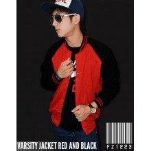 Jacket Varsity Red and Black