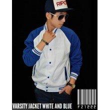 Jacket Varsity White and Blue