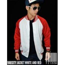 Jacket Varsity White and Red