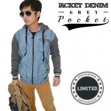 Jacket Hoodie Denim Pocket *Limited Edition