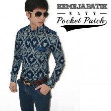 Kemeja Batik Pocket Patch