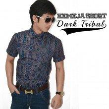 Kemeja Short Dark Tribal Pattern