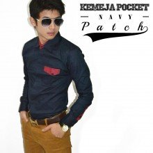 Kemeja Pocket Patch Navy
