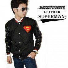 Jacket Varsity Leather Superman