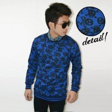 Sweater Vingate Skull Blue