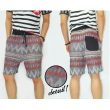 Sweat Shorts Navajo Tribal Red