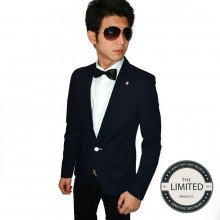 Blazer Fashion Suits Dark Navy