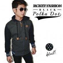 Jacket Fashion Polkadot Black