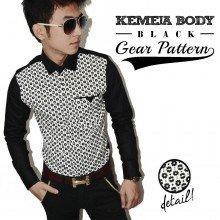 Kemeja Body Gear Pattern