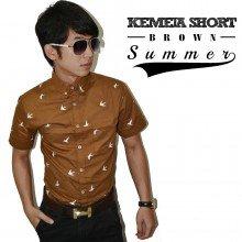 Kemeja Short Summer Brown