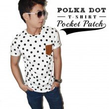 Polka Dot Pocket Patch Tee