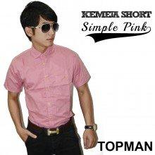 Kemeja Short Simple Pink