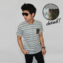 Diamond Pattern Tee Grey