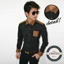 Long Shirt Black Linen Silk