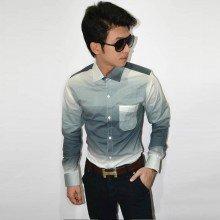Long Shirt Gradation Grey