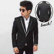 Blazer Collar White Shadow