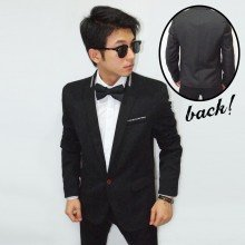 Blazer Formal Collar White Slash