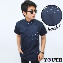 Kemeja Short Pocket Bear Pattern Youth
