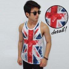 Mens Tank Top England Flag