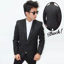 Formal Blazer Collar Shiny Line
