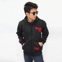 Jacket Simple Flocking Black