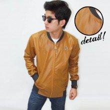 Jacket Varsity Leather Caramel Brown
