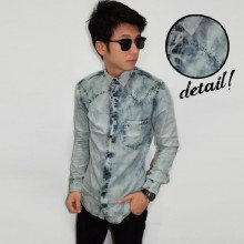 Kemeja Denim Cloudy Wash