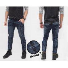 Jeans Ripped Marble Wash Kakkoii Dark Indigo