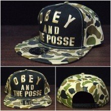 Topi Snapback Obey and The Posse Army
