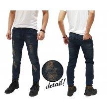 Jeans Ripped And Repair Kakkoii Dark Indigo