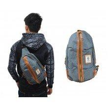 Shoulder Bag Ozuko Line Zipper Blue