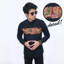 Kemeja Batik Middle Block Black