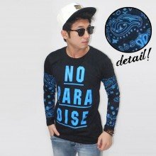 Long Sleeve Tee No Paradise Tribal Black