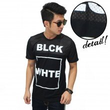 Mesh T-Shirt Black And White