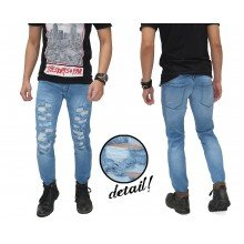 Jeans Ripped Destroyed Naked Kakkoii Soft Blue