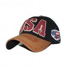 Topi USA Flag Black