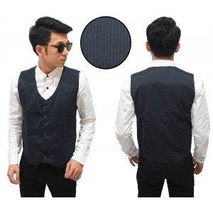 Vest Formal Stripe Black