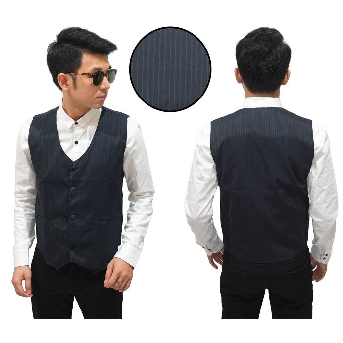 Vest Formal Stripe Black - Baju Pesta Pria 5cbc6089bb