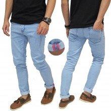 Celana Jeans Light Blue With Ribbon List