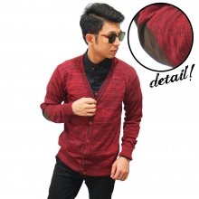 Cardigan 5 Button With Elbow Red