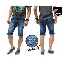 Celana Pendek Jeans 3 Ripped Blue