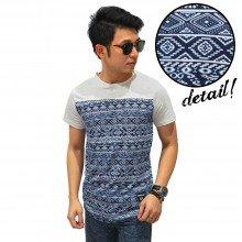 Half Block Tribal Layer Combination T-Shirt