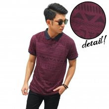 Polo Tribal Faded Maroon