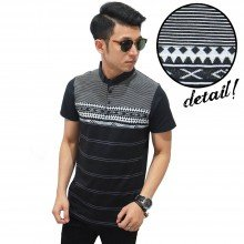 Polo Stripe And Tribal Black