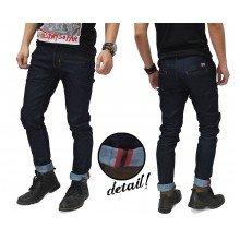 Celana Jeans Rigid Indigo With Ribbon List